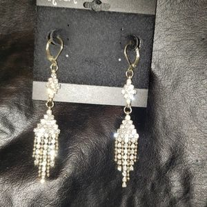 Dangle chandelier rhinestone earrings